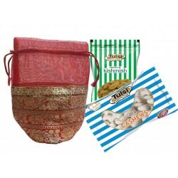 Wedding Dry Fruits Gift Pack of Tulsi Cashews 500g + Kishmish 200g