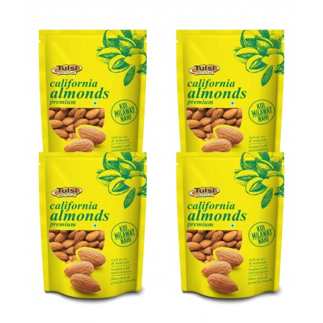 Tulsi California Almonds 200g (Pack of 4)