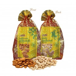 Tulsi Dry Fruits Gift Combo Pack of California  Almonds 500 & Whole Cashew 200g  (700g)