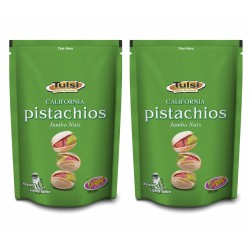Tulsi California Roasted Pistachios Jumbo Nuts Lightly Salted 400g (200g x 2)